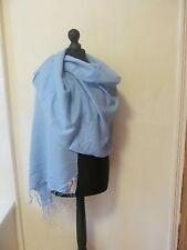 Cashmere Company Pashmina - Pale Blue - 50% Wool, 50% Silk