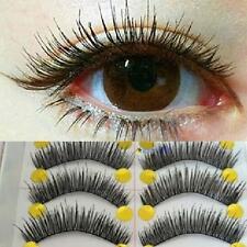 10Pairs Long Cross False Eyelashes Makeup Natural Fake Thick Black Eye Lashes MT