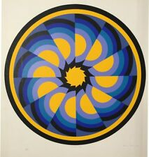 "Brian Rice  Sector NO.1 1969  Signed Original Print Silkscreen   30"" x 27"""