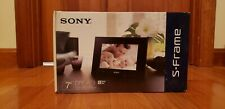 "Sony S-Frame Digital Photo Frame DPF-A73 Black 7"" Display. Unopened Box."