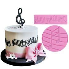 Music Note Fondant Silicone Mold Lace Cake Mould Wedding Decorating Sugarcraft