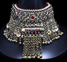 Afghan Kuchi Choker Necklace Tribal Pendant Jewelry Bohemian Dance Boho Collar