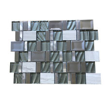 Glass/Stone/Metal Mosaic Sheets (Ebbed Rockbed)