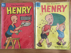 Dell Golden Age Lot of 2 CARL ANDERSON'S  HENRY- #30 47