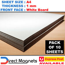 10x A4 Whiteboard Magnet Sheets White Board Wipeable Removable Marker 1.0mm 1mm