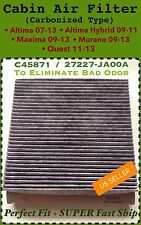 Carbonized Cabin Air Filter For NISSAN Altima Maxima Murano 27277-JA00A C45871C
