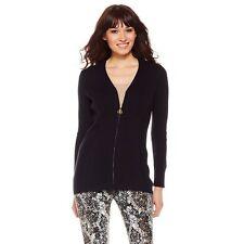 $99.00 Liz Lange Ultimate Zip-Front Sweater 304367A LAST ONE (Med. Black) $34.90