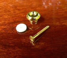 Convesso / pulsante a fungo pulsante STRAP PER ACUSTICA CHITARRA fine PIN PLACCATO ORO