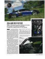 2014 AUDI R8 V-10 PLUS  ~  NICE 3-PAGE PREVIEW TEST / ARTICLE / AD