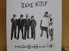 The Rude Kids Punk Rock Will Never Die LP L313