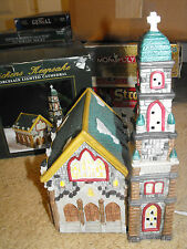"Christmas Village Porcelain Dickens Keepsake Cathedral Church 11.5"" Lighted"