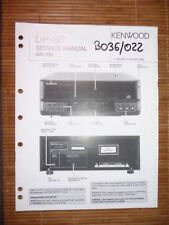MANUAL DE SERVICIO Kenwood dp-g7 REPRODUCTOR CD, original