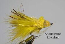 Hechtfliege Dalberg Diver gelb #2/0 mit Krautschutz by Angelversand Rheinland