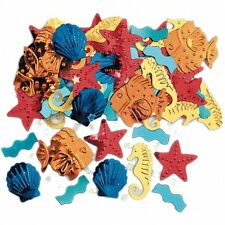 LUAU HAWAII SEA LIFE FISH SEA HORSES TABLE CONFETTI BIRTHDAY PARTY - 14G BAG!