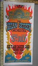 1999 Rock Concert Poster Brian Setzer Orchestra Mark Arminski Signed Six Flags