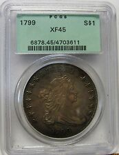 Stunning 1799 Draped Bust Dollar PCGS XF45 Top Quality Example With Great Appeal