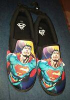Mens BioWorld DC Comics superman Black Canvas SlipOn Shoes Size 10 New With Tags
