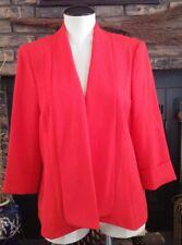 Jones Studio Separates Size 14 Orange Long Sleeve Open Blazer Career Casual