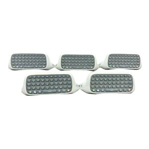 Lot of 5 Microsoft Xbox 360 Official Chat Pad Keyboard White Free Shipping