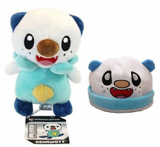 "Pokemon Center Oshawott Mijumaru Soft 6"" Plush Toy & Hat Animal Cap set of 2 pcs"