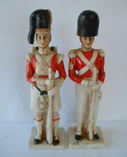 2 x Vintage Ceramic Decanter Bottles  -  British / Scottish Soldiers in Uniform