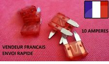 Lot de 5 mini fusibles 10 Amp 10 A auto moto scooter automobile voiture 16x11mm