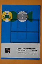 Prospekt - Dental Feinpunkt Schweiss- und Lötgerät FPL 2/10, 1972, DDR