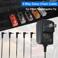 9V 1A DC Guitar Effects Pedal Power Supply Adapter with 5 Way Daisy Chain Cord