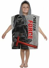 Official BOYS Lego Star Wars Seven Character 100% Cotton Hooded Towel Poncho