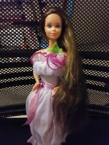 Jewel Secrets Whitney Barbie 1986  Redressed  Purple Dress TLC