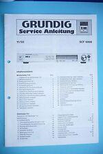 Service Manual Grundig SCF 6000 ,ORIGINAL