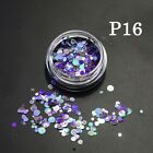 mini PAILLETTES per NAIL ART 1mm 2mm 3mm colorate GLITTER SEQUINS unghie cromate