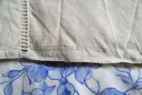 French Linen Sheet ladderwork jour venise cream unused unbleached pur lin #m70
