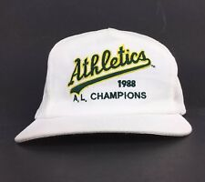 Vtg MLB Oakland A's Athletics 1988 AL Champions Baseball Cap Hat Adj Men's MED