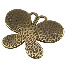 Large Antique Brass Butterfly Charm Pendant 57x56mm Pack of One (B103/1)