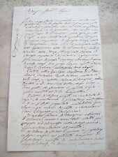 1861 LETTERA SINDACO DI CONDOVE (TO) SU ELEZIONI NAZIONALI E MALAFFARE POLITICO