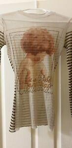 JEAN PAUL GAULTIER- Soleil Mesh Long Sleeve Top Size Small /TAG missing