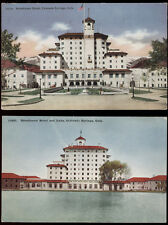COLO SPRINGS BROADMOOR HOTEL * LAKE * & MAIN VIEW * 2 DIFF OLD POSTCARDS PC7534