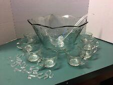 "Anchor Hocking Co. ""Savannah"" 18 Pcs Bowl Ladle 8 Cups 8 Hooks in Original Box"