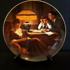 """Norman Rockwell Collector Plate """"Father's Help"""" #1835C, Knowles China"""