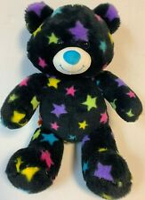 Build a bear black bear with colorful stars blue nose