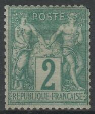"""FRANCE STAMP TIMBRE N° 62  """" TYPE SAGE 2 c VERT 1876 """" NEUF xx A VOIR  M485"""