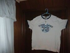 Timberland t-shirt short sleeve white T 73 NAVY BLUE RINGER size XXL NWT
