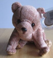 Ty Beanie Baby Pecan the Grizzly Gold Tan Brown Bear, Great condition