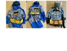 Childs Kids Black Grey Batman Fancy Dress Superhero Costume Age 3-4 Years