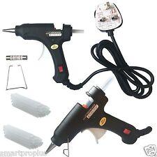 20W Electric Hot Melt Glue Gun Trigger + 50 PCS Sticks DIY Craft Tool (Black)