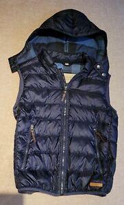 Burberry Brit Down Gilet Body warmer Small Medium 38 Hooded Check