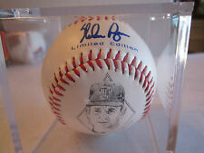 TEXAS RANGERS NOLAN RYAN AUTOGRAPHED BALL - 27 YEARS OF EXCELLENCE - TUB NN
