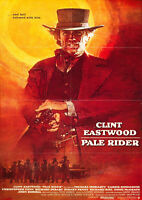 """Reproduction """"Clint Eastwood"""", Western Poster, Pale Rider"""