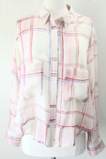 Anthropologie Holding Horses Shirt Plaid Medium Lightweight Womens oversized